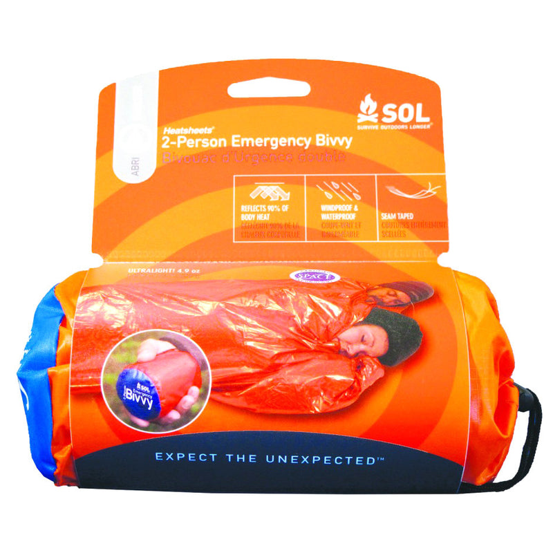 Adventure Medical S.O.L. 2 Person Emergency Bivvy Bag - Orange - Niagara Quartermaster