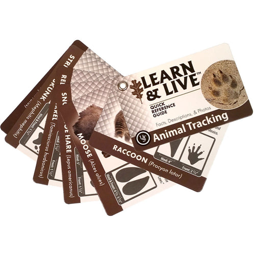 Ultimate Survival Learn And Live Cards - Animal Tracking - Niagara Quartermaster
