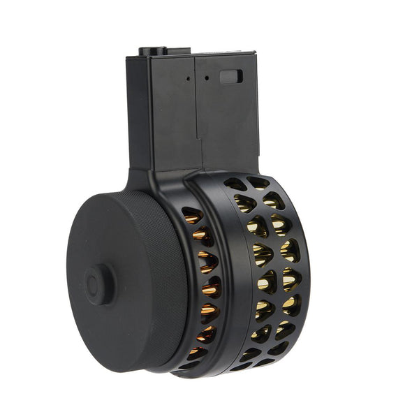 6mm ProShop Skeletonized1000 Round Drum Magazine for M4/M16 Airsoft AEG Rifles - Niagara Quartermaster