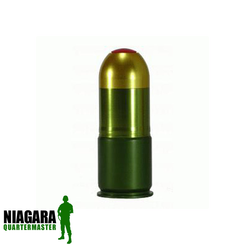 S-Thunder 40mm Airsoft Gas Grenade w/ Co2 Core Shell (Shoots Nerf Rockets 1~4 68 Cal. paintballs spit balls)