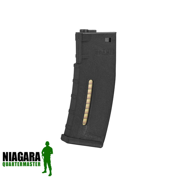 BAMF 190rd Polymer Mid-Cap Magazine for M4/M16 Series AEG Rifles - Black