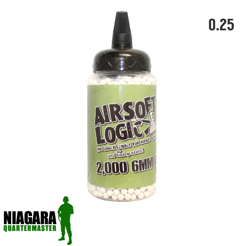 Airsoft Logic Biodegradable BBs - .25g x 2000 Bottle