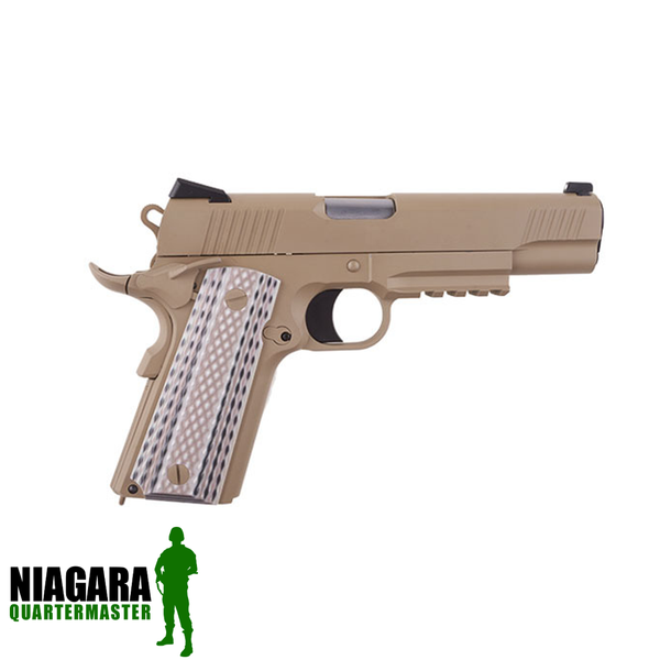 WE 1911 M45A1 - Tan - Niagara Quartermaster