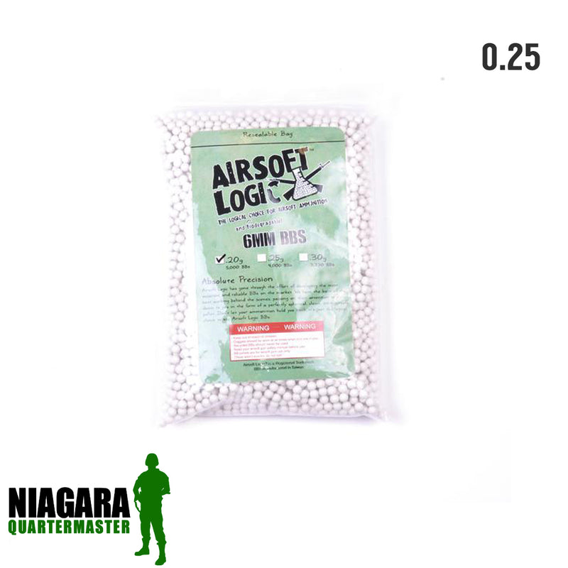Airsoft Logic Biodegradable BBs - .25g x 1kg