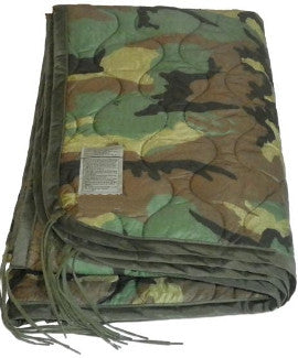 Surplus Canadian Forces Ranger Blanket/Poncho Liner - Woodland