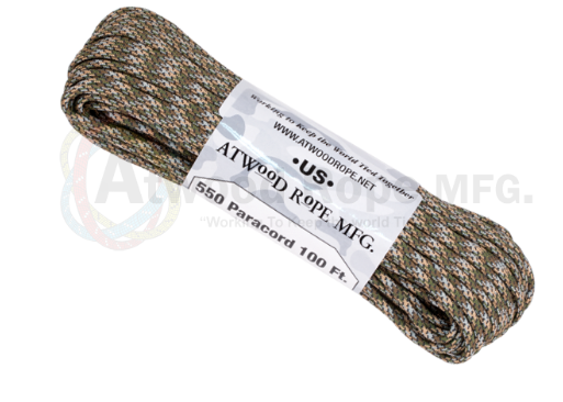 Atwood Rope 100ft 550 Paracord - Infiltrate - Niagara Quartermaster
