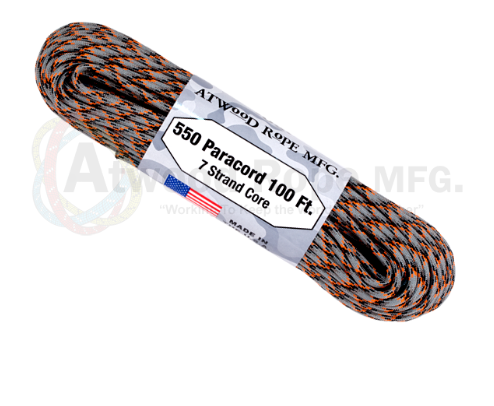 Atwood Rope 100ft 550 Paracord - Die Cast - Niagara Quartermaster