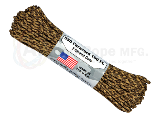 Atwood Rope 100ft 550 Paracord - Rattler