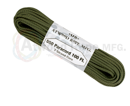 Atwood Rope 100ft 550 Paracord - Comanche - Niagara Quartermaster
