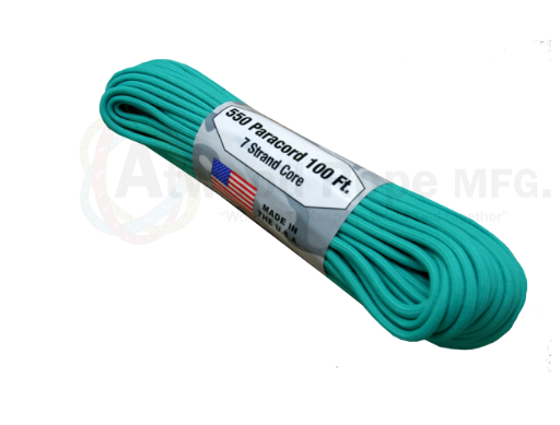 Atwood Rope 100ft 550 Paracord - Teal