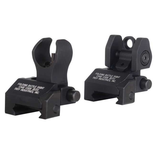 ACM Troy Style Flip Up Sights - Black