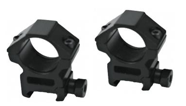 "AIM Sports 25mm/1"" Tactical Scope Ring Set - Niagara Quartermaster"