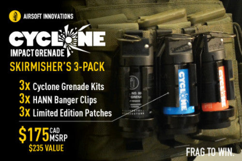 Airsoft Innovations 3-Pack Cyclone Grenade System - Niagara Quartermaster