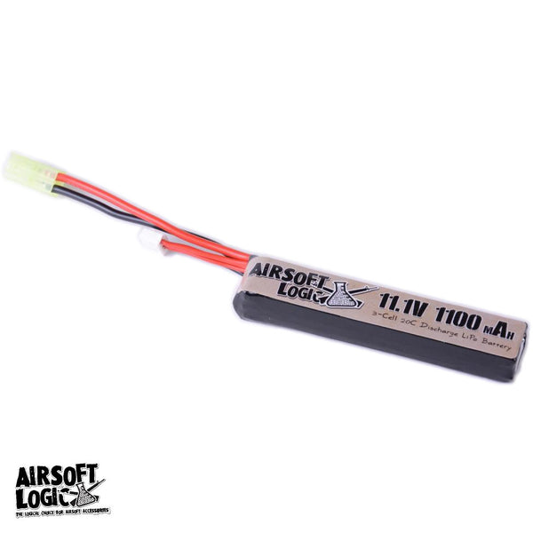 Airsoft Logic 11.1v 1100mah Lipo - Mini Stick - Niagara Quartermaster