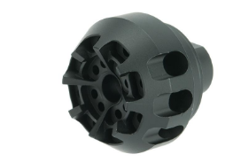 ARES AM-016 Metal Muzzle Brake for AEGs - Black - Niagara Quartermaster