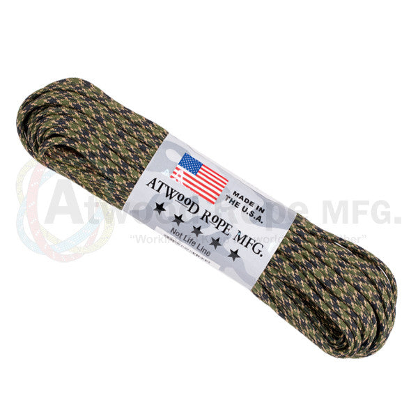 Atwood Rope 100ft 550 Paracord - Veteran