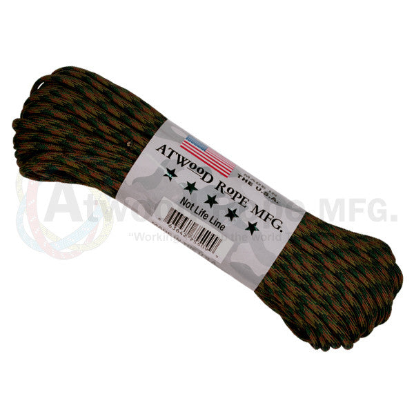 Atwood Rope 100ft 550 Paracord - Woodland - Niagara Quartermaster