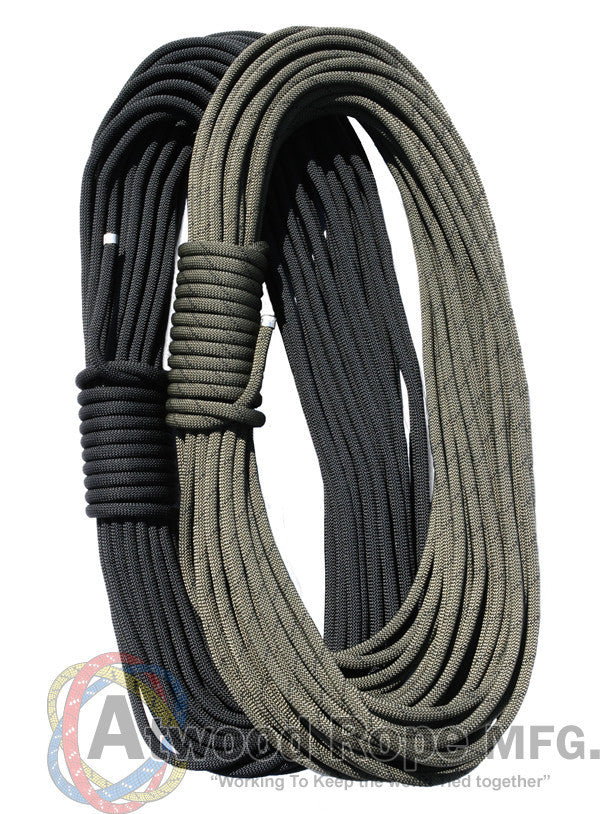 "Atwood Rope 150ft 7""/16"" Rappelling Rope - Black - Niagara Quartermaster"