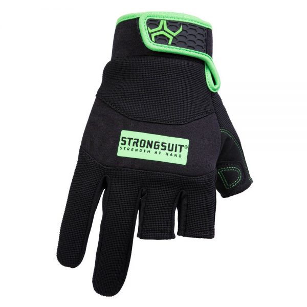 Strong Suit Precision Gloves - Black/Green