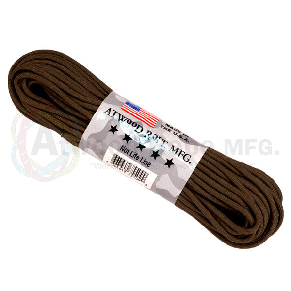 Atwood Rope 100ft 550 Paracord - Brown - Niagara Quartermaster