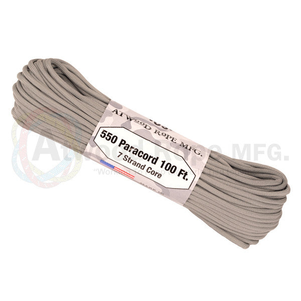 Atwood Rope 100ft 550 Paracord - Grey