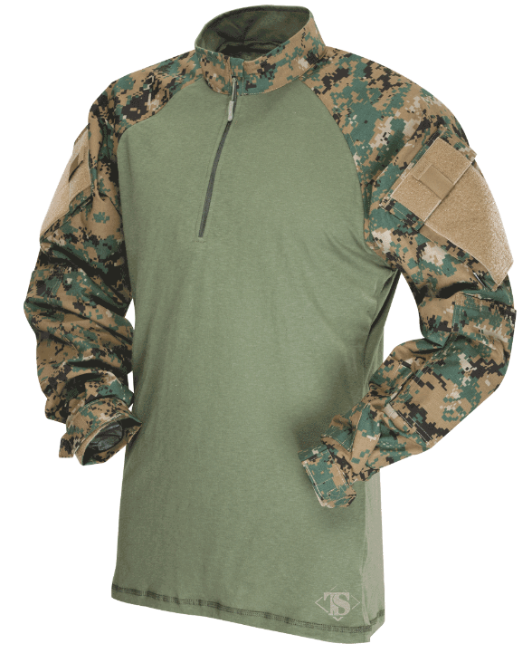 TRU-SPEC TRU 1/4 Zip Combat Shirt - Digital Woodland - Niagara Quartermaster