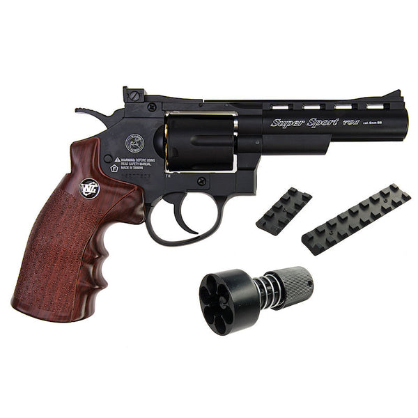 "Wingun 4"" Super Sport Revolver - Black"