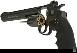 "Wingun 6"" Super Sport Revolver - Black"