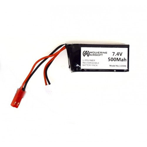 Wolverine 7.4v 500mah Lipo w. Balance Adapter for HPA FCU Unit