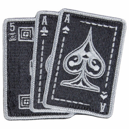 5.11 Ace in Hand Patch - Black/Gray
