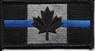 Canadian Flag Patch - Blue Line / Small