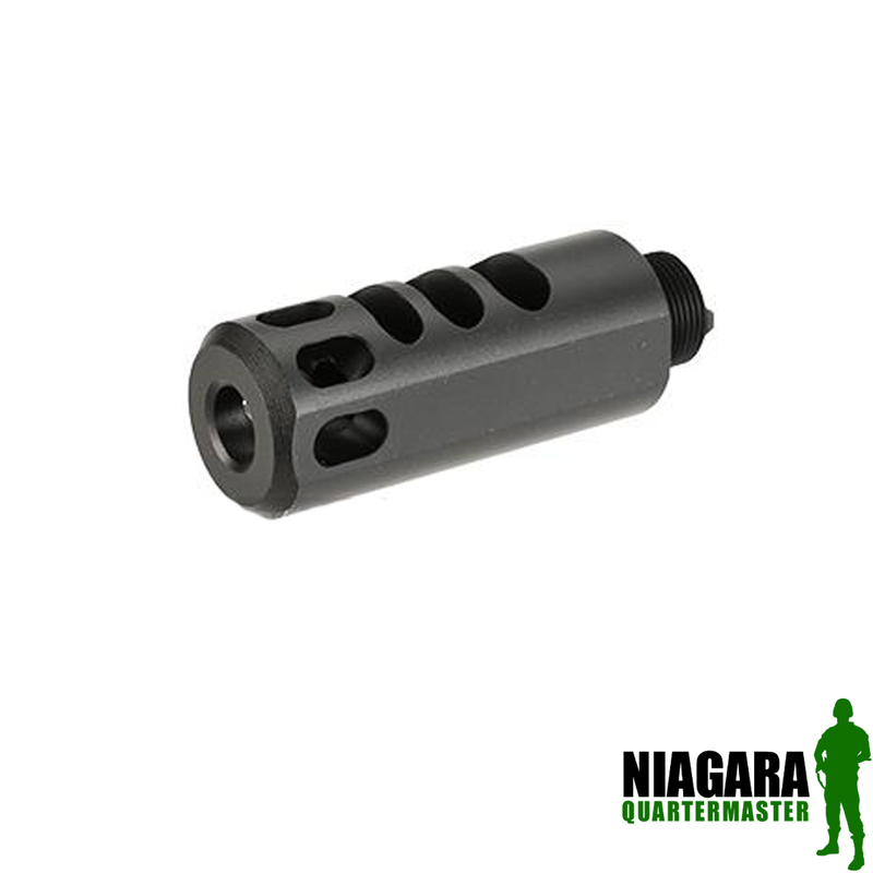 Avengers Airsoft CNC Flash Hider - 16mm CCW