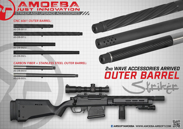 ARES Amoeba Striker Series Carbon Fiber + Stainless Steel Outer Barrel