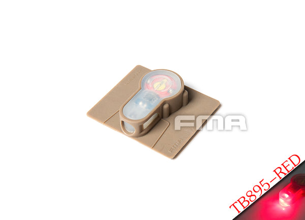 FMA Tactical IFF LED S-Lite Patch - Dark Earth Case / Red Strobe