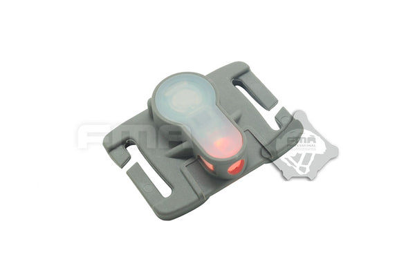 FMA S-Lite Horizontal IFF Strobe LED for MOLLE - OD Buckle/Red Strobe