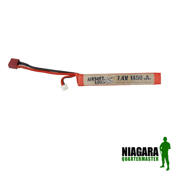 Airsoft Logic 7.4v 1450mah High Discharge Lipo - Stick - Deans Connector