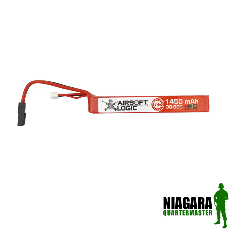 Airsoft Logic 7.4v 1450 Mah High Discharge Lipo - Mini Stick