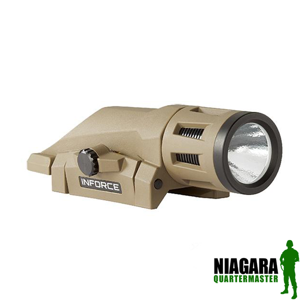 InForce WML Weapon Mounted Multifunction White LED Tactical Light - Dark Earth