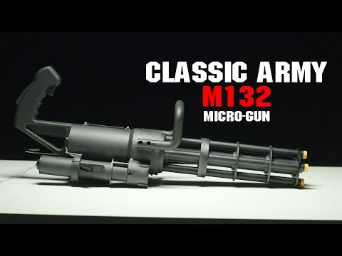 Classic Army M132 Green Gas / HPA Powered Rotating Multi-Barrel Personal Gun