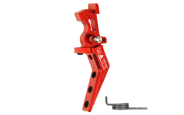 MAXX Model CNC Aluminum Advanced Speed Trigger (Style A) (Red)