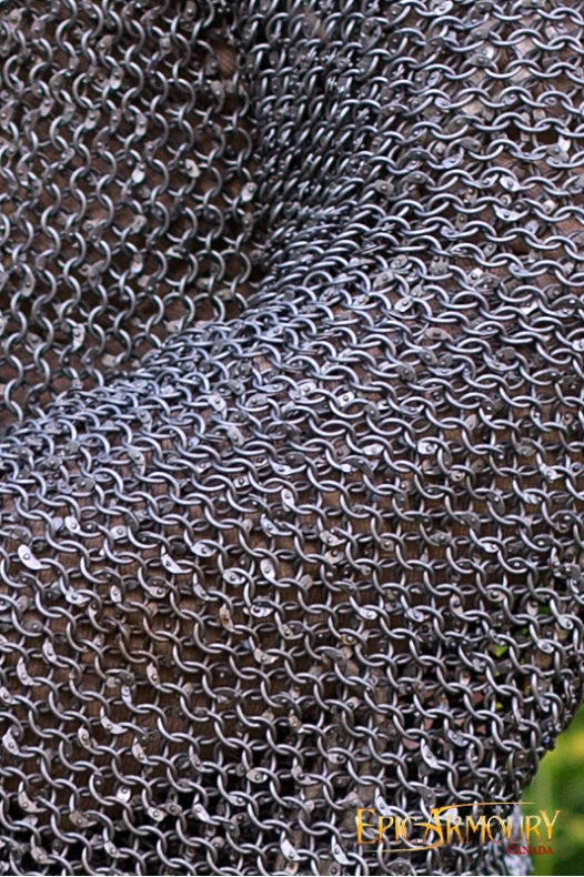 Epic Armoury Chainmail Long Sleeves - Riveted Steel