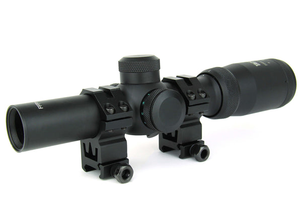 Precision Dynamics 1-4x24E Tri-Illuminated Scope - Niagara Quartermaster