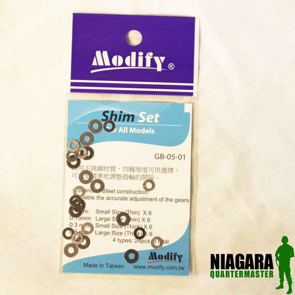Modify Stainless Steel Shim Advanced Metal Set