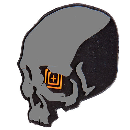 5.11 Skull Shot Patch - Black/Gray