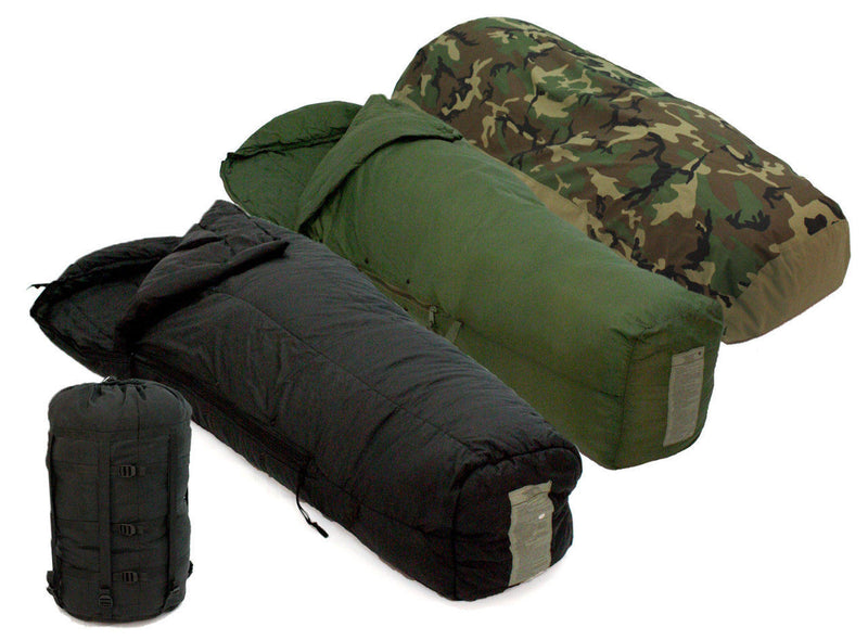 Surplus US Military MSS Black Intermediate Cold Weather Mummy Sleeping Bag - Niagara Quartermaster