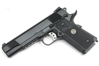 WE 1911 MEU GBBP with Rail - Black - Niagara Quartermaster