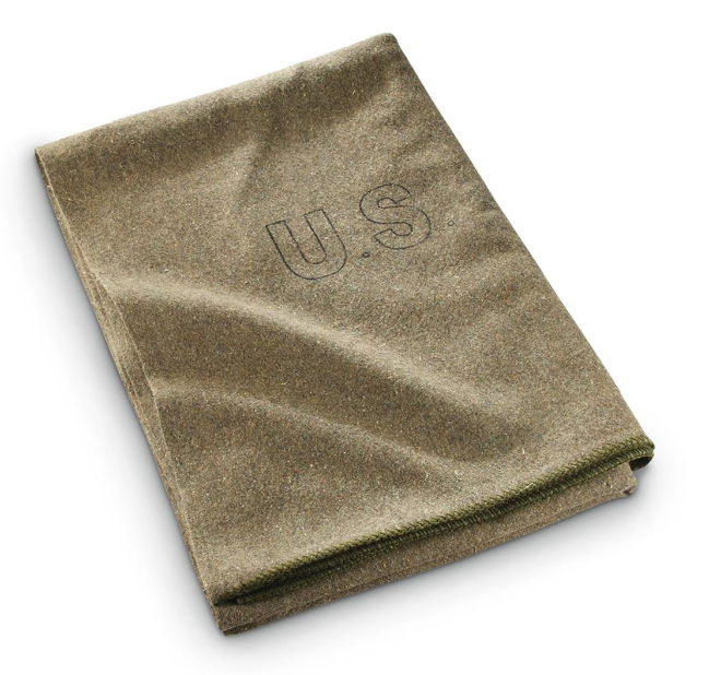 Surplus US Wool Blanket - Olive - Niagara Quartermaster