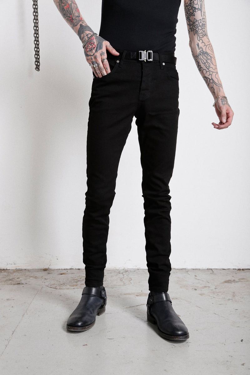 114 Essential Jeans | Jet Black - OTHER UK Rock Goth Punk Urban Gangster Streetwear Skate Emo