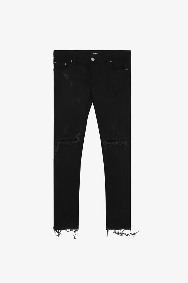 118 Distressed Jeans | Jet Black