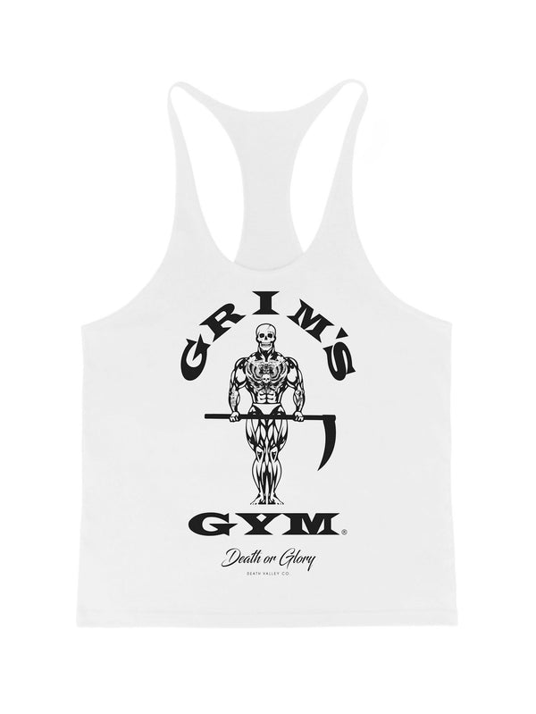 Grims Gym Stringer Vest / White